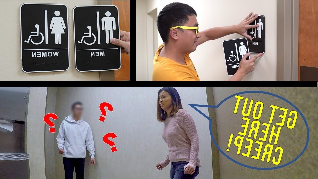Switching Bathroom Signs Prank! 40+ Bathroom Prank Inspirations