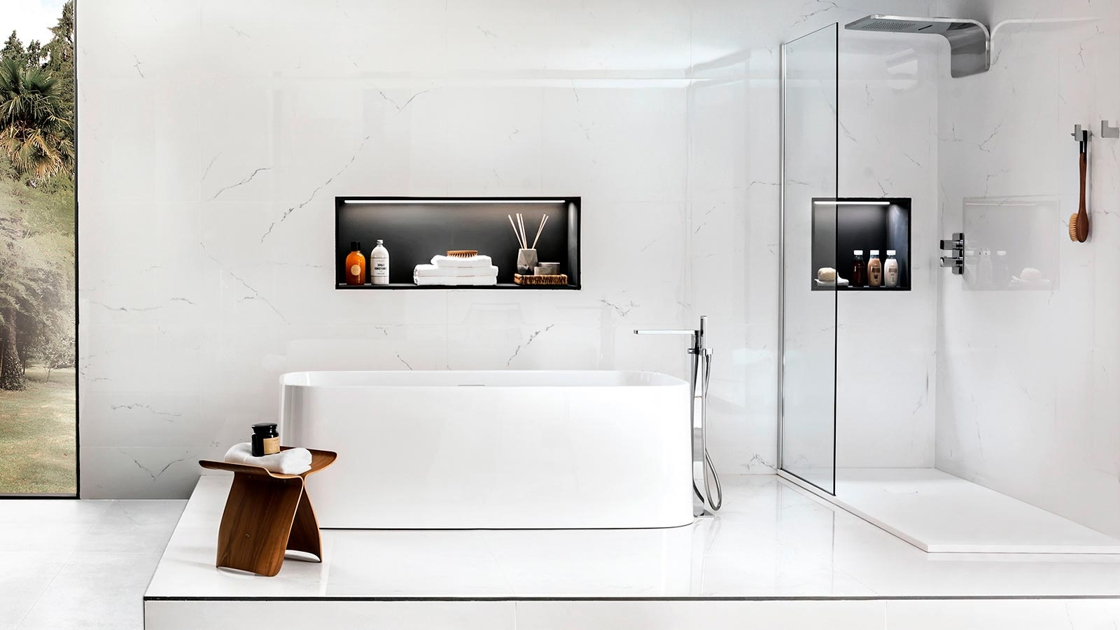 The 5 Best Shower Niche Real Ideas Porcelanosa Trendbook 40+ Bathroom Niche Design Ideas