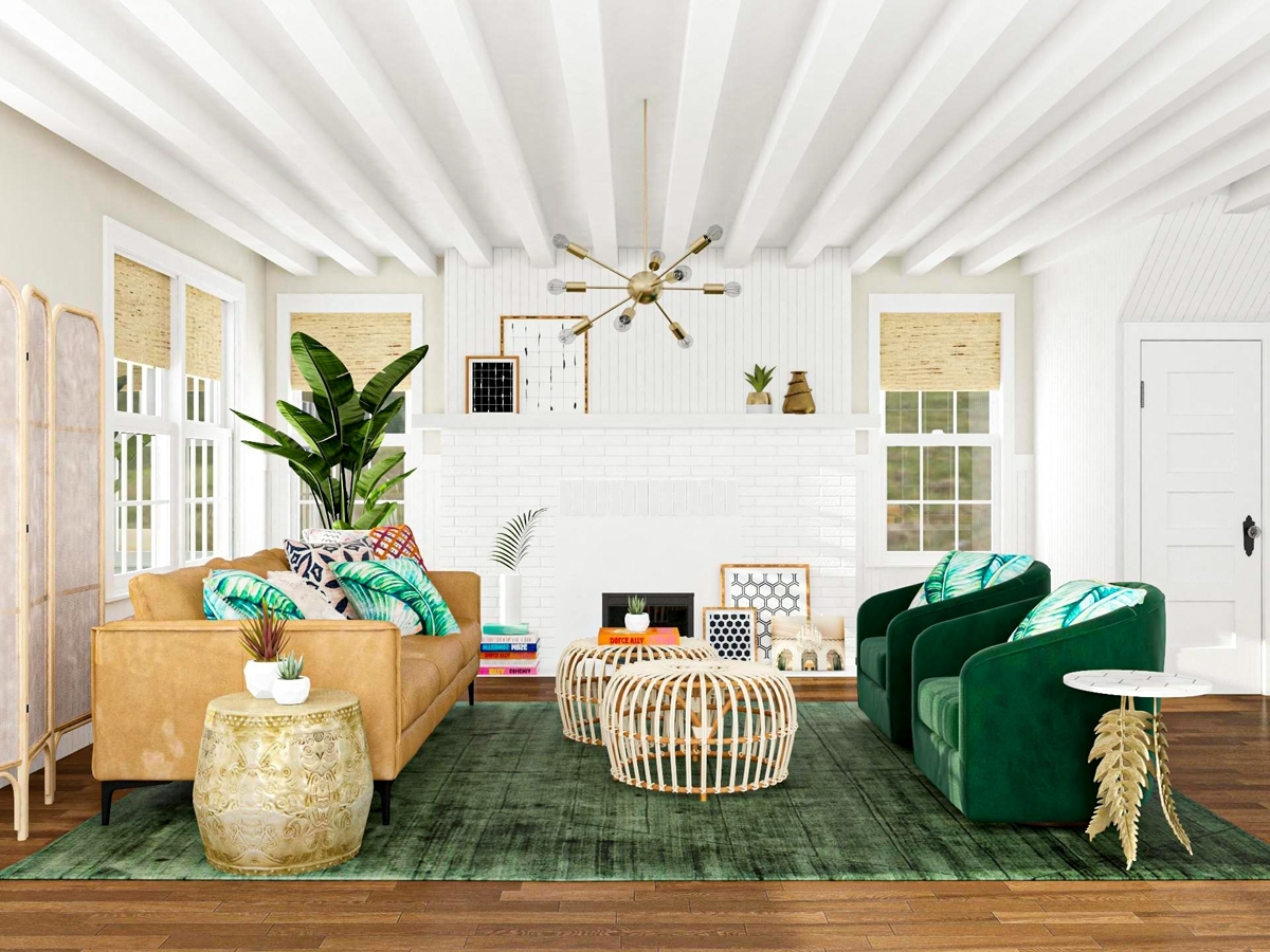 The Difference Between Hollywood & Bohemian Glam | Modsy Blog 30+ Hollywood Regency Living Room Design Ideas