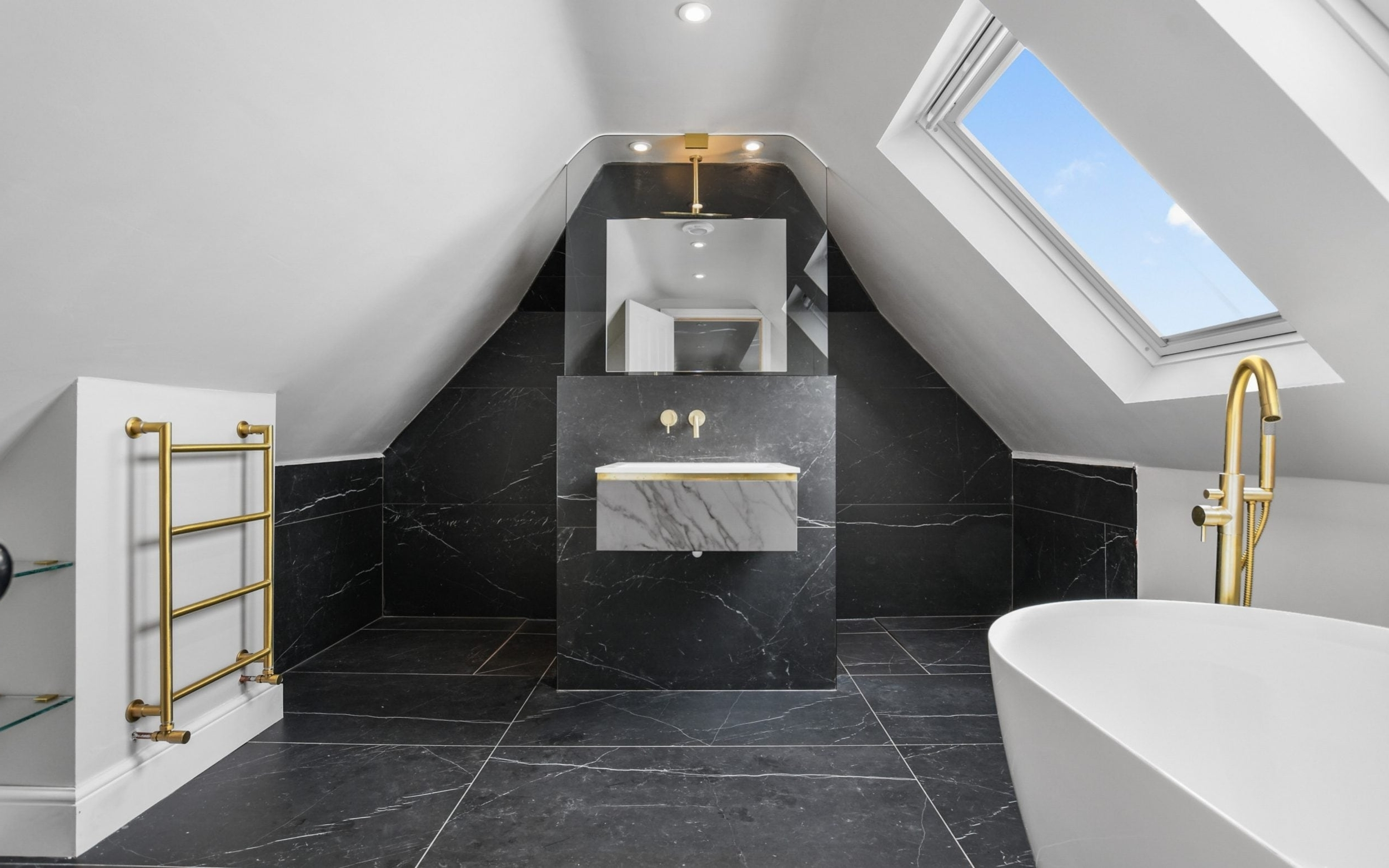 The Easy Tricks That Will Turn Your Dark Bathroom Into A Pitched Roof Bathroom