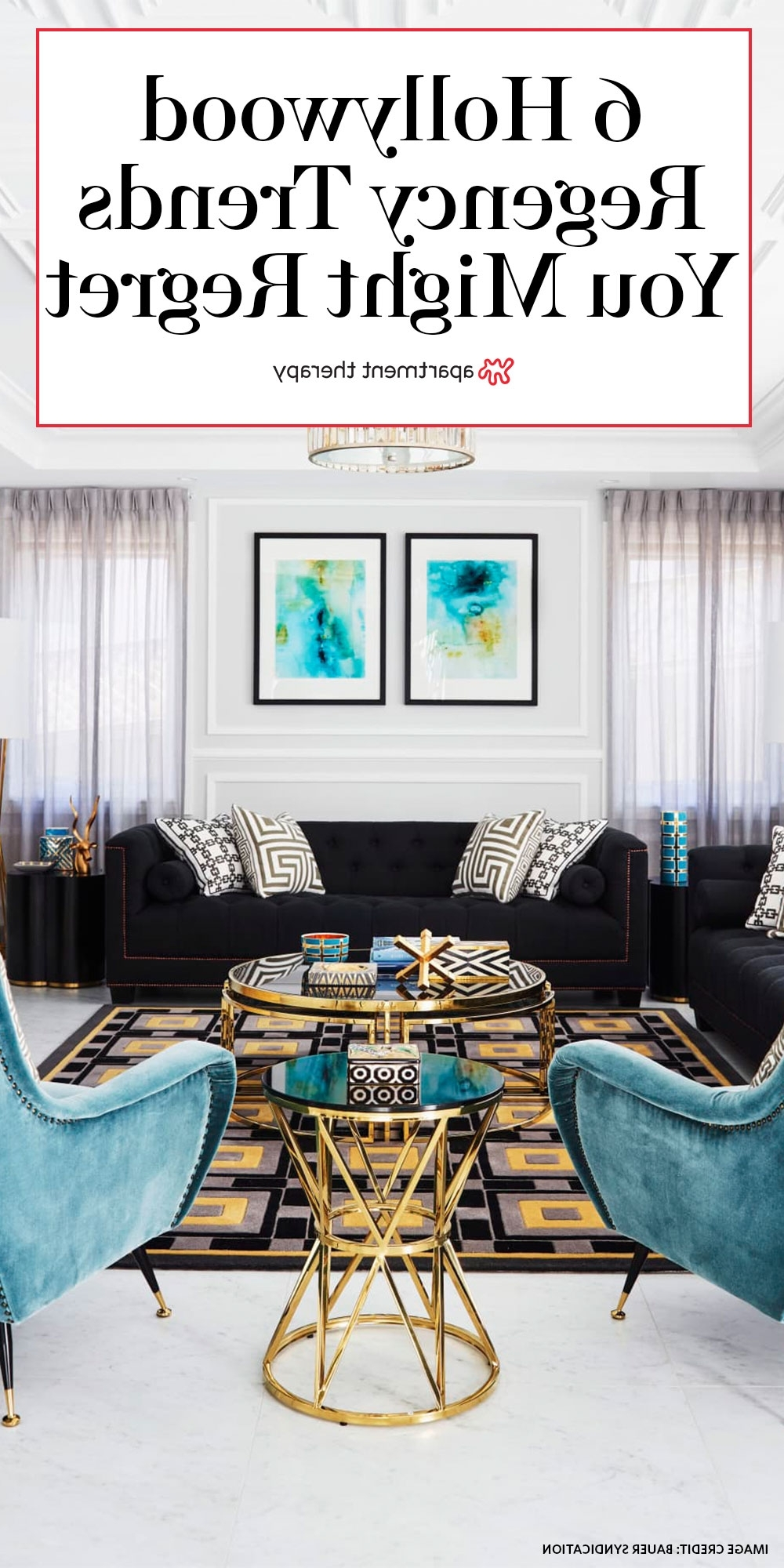 The Hollywood Regency Trends You Might Regret, According To 30+ Hollywood Regency Living Room Design Ideas