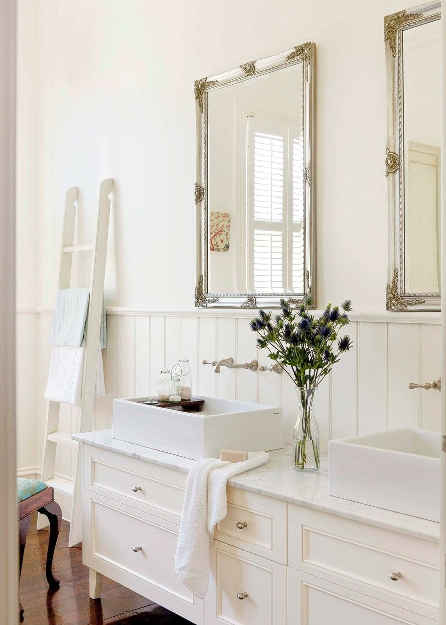 The Makeover Of This Striking Victorian Home Pays Homage To French Provincial Bathroom