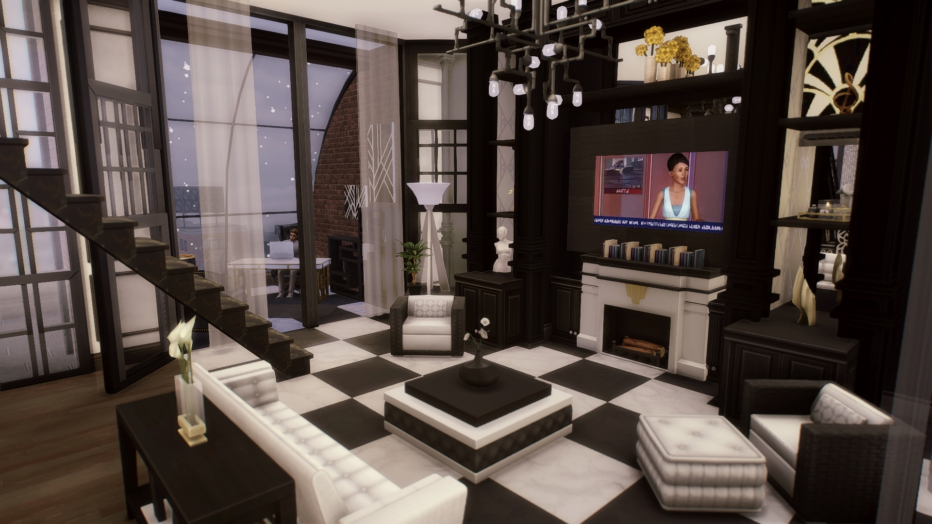 The No Cc Living Room From My Art Deco Penthouse Wip : Thesims 40+ Sims 4 Living Room No Cc Inspirations