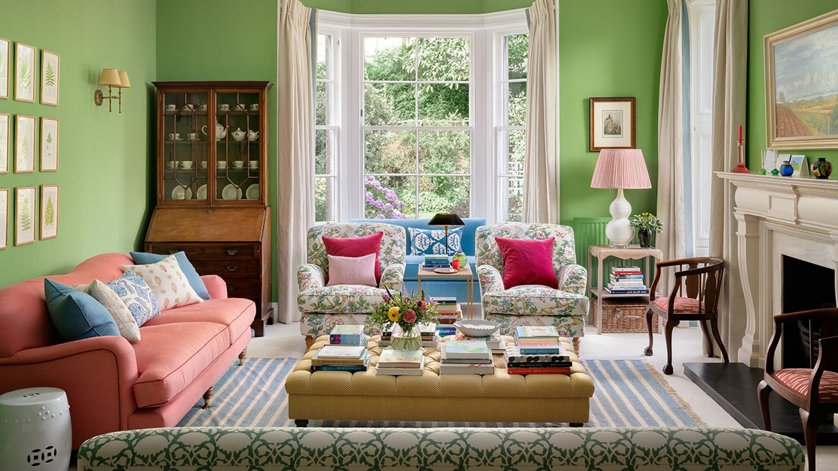 This Fresh Bright Living Room Takes Its Colour Cue From The North Facing Living Room Colour