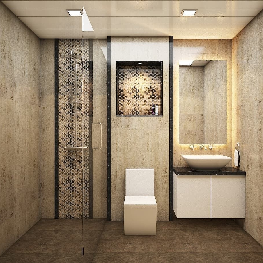 This Stunning Bathroom Will Have Marble Effect Tile, Glass 10+ Bathroom Highlighter Ideas