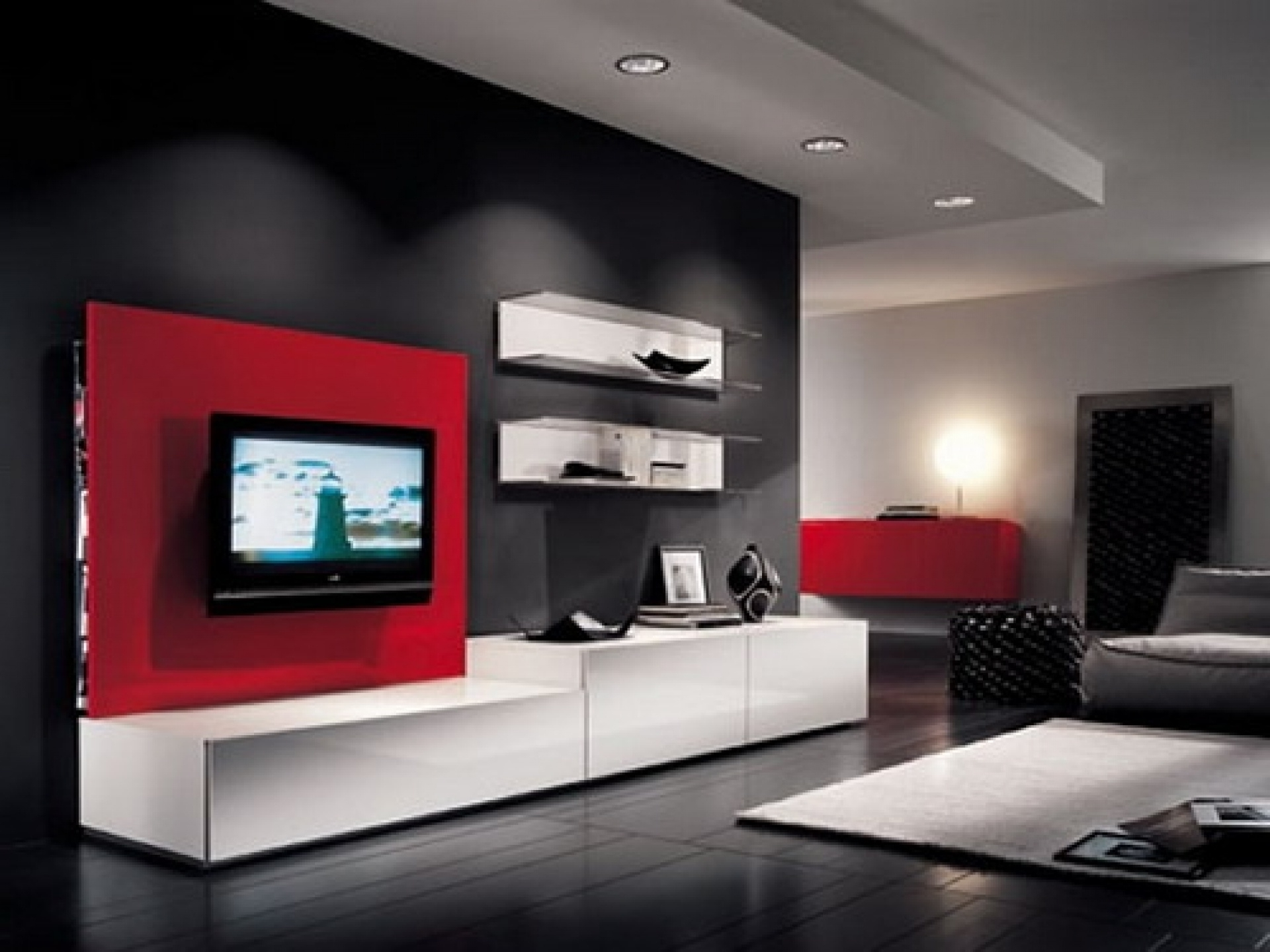 Unforgettable Beautiful Red And White Living Room Design 40+ Modern Living Room Design 2012 Ideas