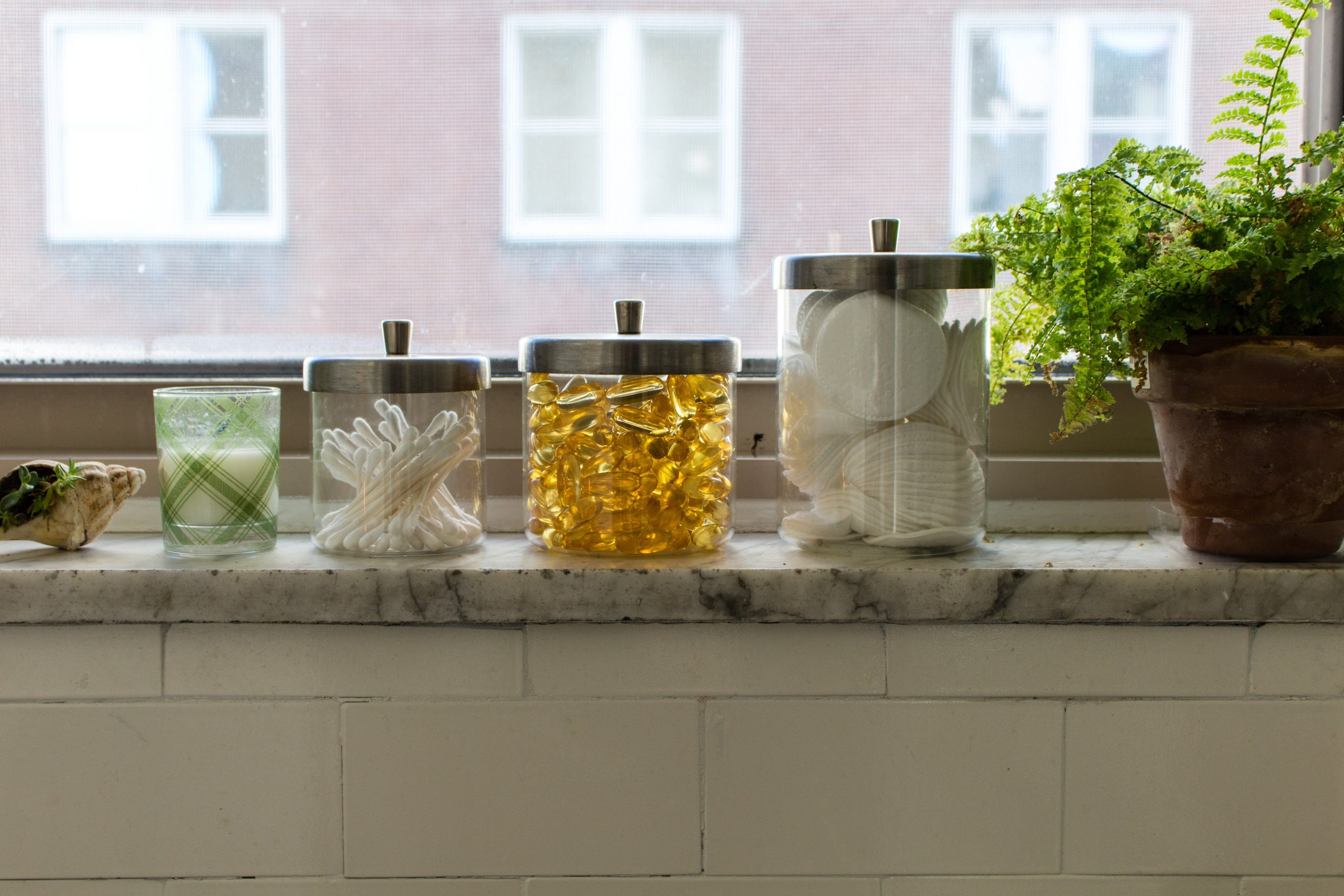 Use Your Windowsills For More Storage & Usable Surface Area Ideas For Bathroom Window Sills