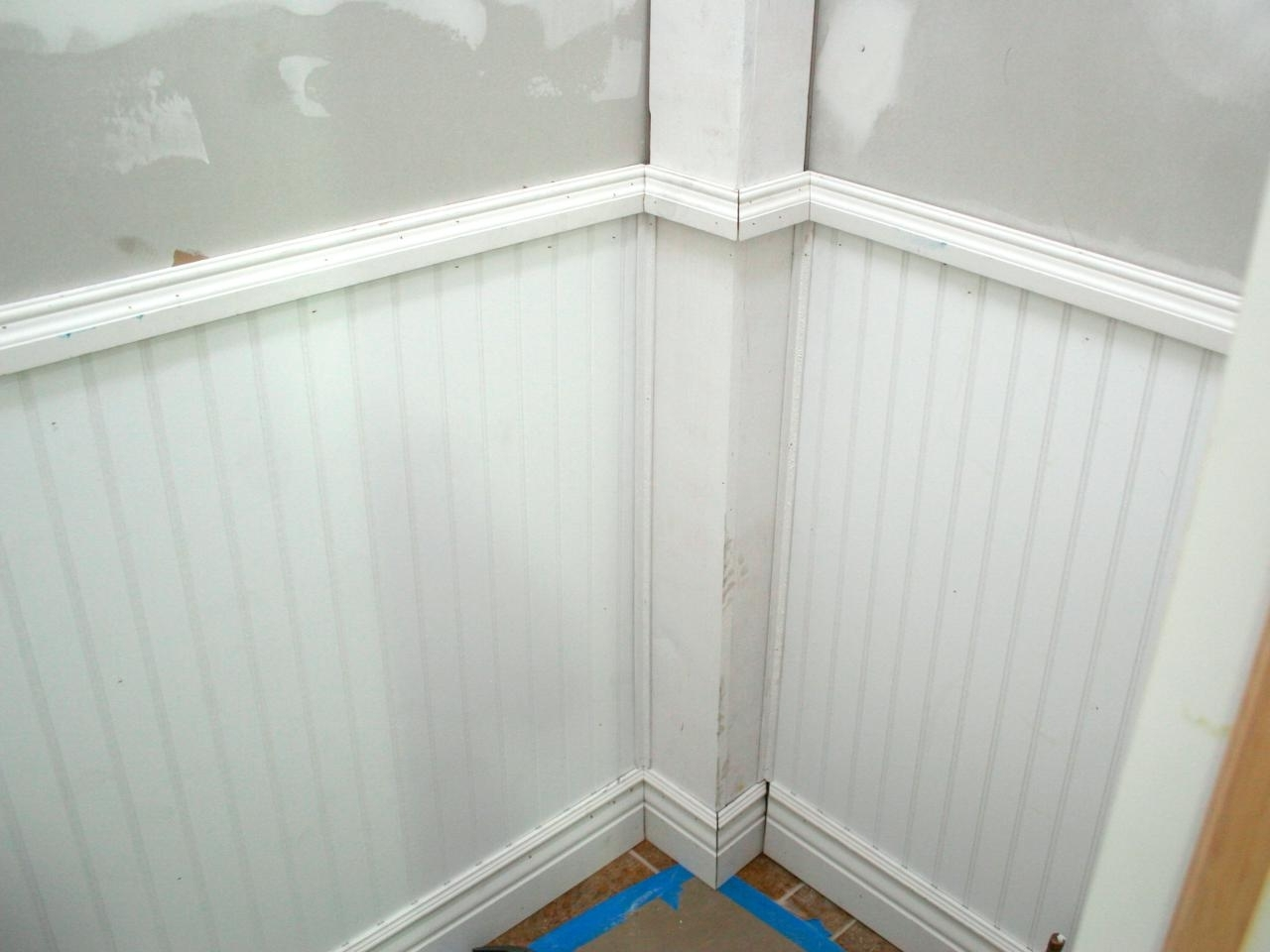 Wainscoting And Tiling A Half Bath | Hgtv 20+ Wainscoting Bathroom Pictures Inspirations