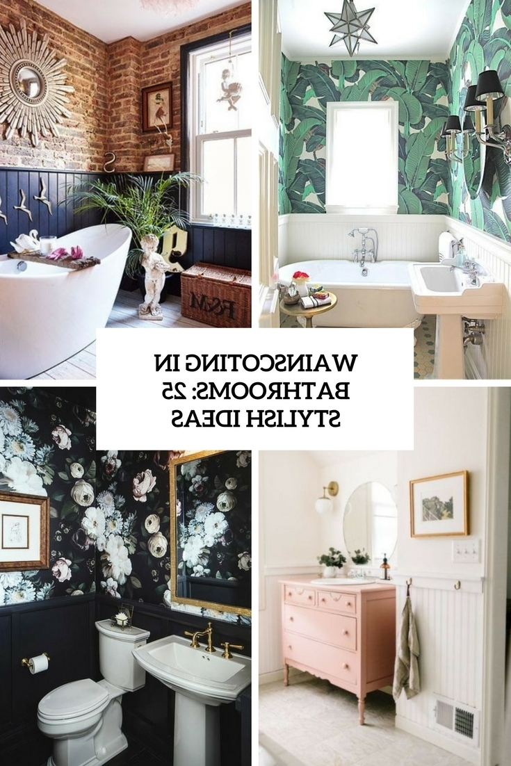 Wainscoting In Bathrooms: 25 Stylish Ideas Digsdigs 20+ Wainscoting Bathroom Pictures Inspirations