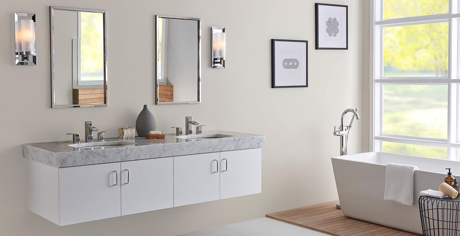 White Bathroom Ideas And Inspiration | Behr Bathroom Paint Color Behr