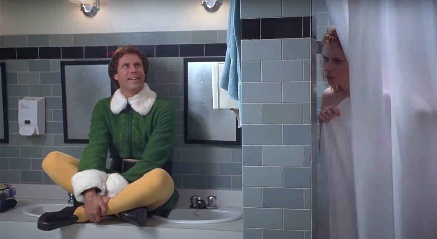 Zooey Deschanel And Will Ferrell Reenact Iconic Elf Duet 40+ Elf Bathroom Ideas