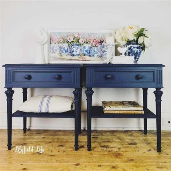 Cool Navy Painted Bedroom Furniture Ideas 17