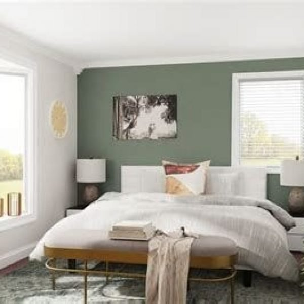 Creative Sage Green Accent Wall Bedroom Ideas 40