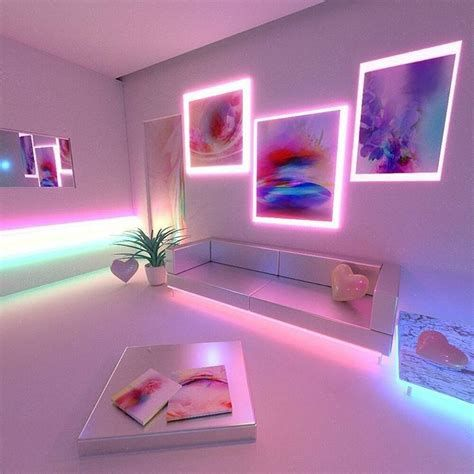 Amazing Aesthetic Rooms With Led Lights Ideas 01