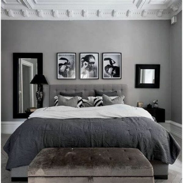 Awesome Grey And White Bedroom Ideas 44